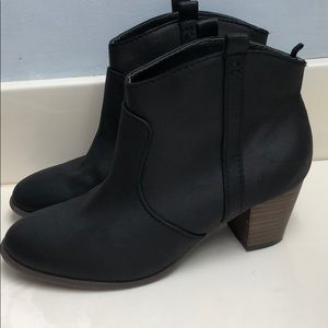 Black ankle boots from Old Navy